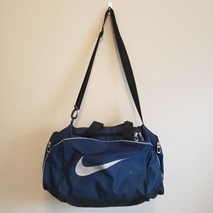 Nike Small Navy Duffle Travel Sports Bag
